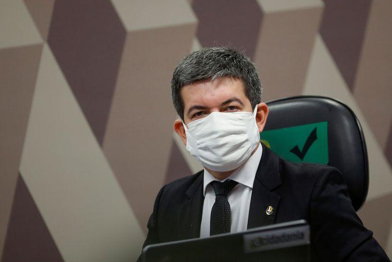 De Braziliaanse Senator Randolfe Rodrigues  Beeld REUTERS