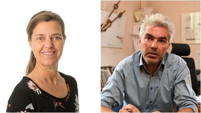 Voorzitter N-VA Huldenberg Kathleen Carlier en burgemeester Danny Vangoidtsenhoven.