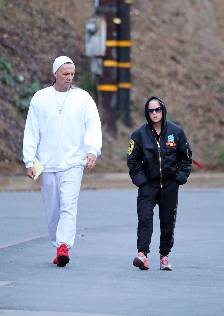 Yolandi Visser en Ninja van Die Antwoord. Beeld Photo News