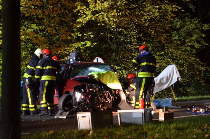Eenzijdig ongeval in Hoeven.