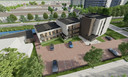 Een impressie van het toekomstige appartementencomplex aan de Wijnruitstraat.
