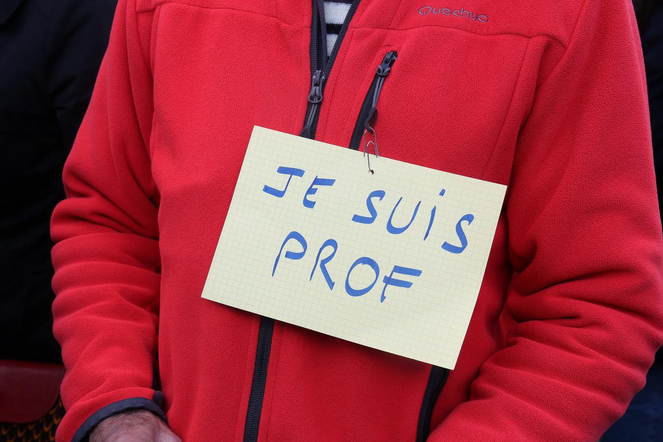 Steun van andere leerkrachten voor Samuel Paty