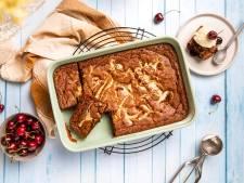 Wat Eten We Vandaag: BBQ brownie met kersen en witte chocolade