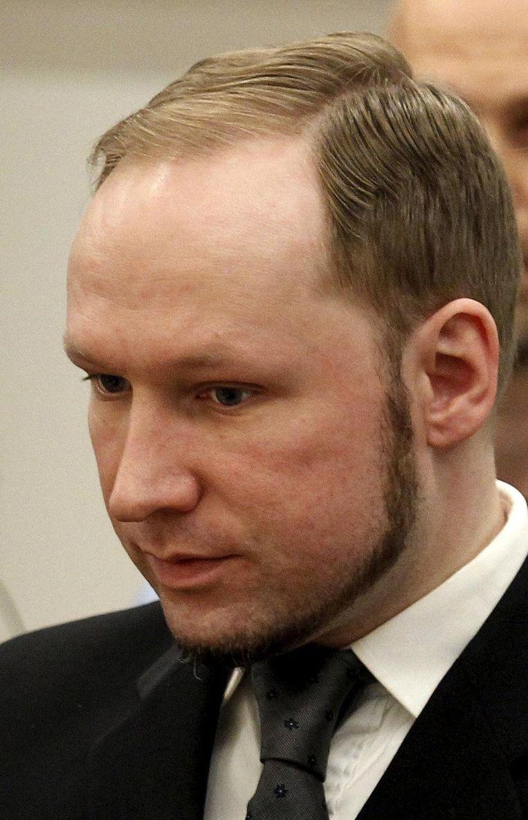 Anders Behring Breivik doodde in 2011 77 mensen. Beeld rv