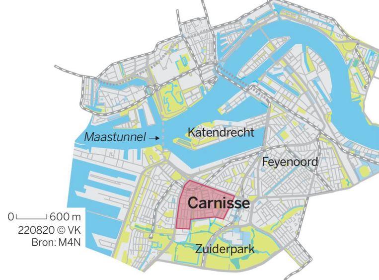 Locator van de Rotterdamse wijk Carnisse Beeld VK Graphics