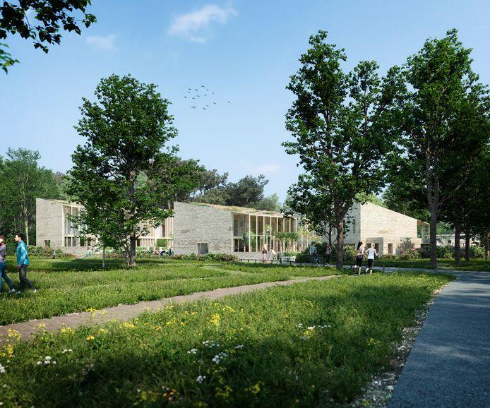 Impressie van The New Mess, het bouwproject van Van Wanrooij Projectontwikkeling, in Bosrijk, Meerhoven in Eindhoven. Het ontwerp is van Inbo Architecten.