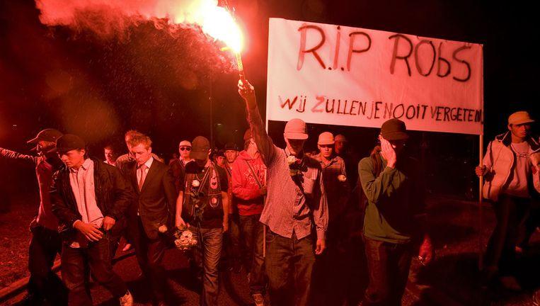 Een politiekogel trof de 19-jarige Robby van der Leeden dodelijk. Foto ANP Beeld