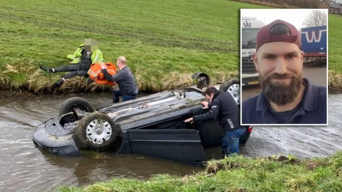 Vrachtwagenchauffeur Remco (41) wint award voor levensreddende actie op A28 bij Putten