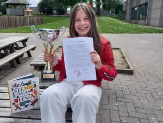 Nynke wint verhalenschrijfwedstrijd tijdens jeugdboekenmaand met verhaal over eenhoorn