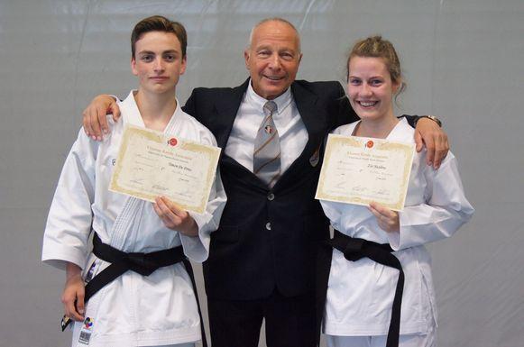 Timon De Prins, Jos Augustus en Zoë Nuydens van Budo Karate