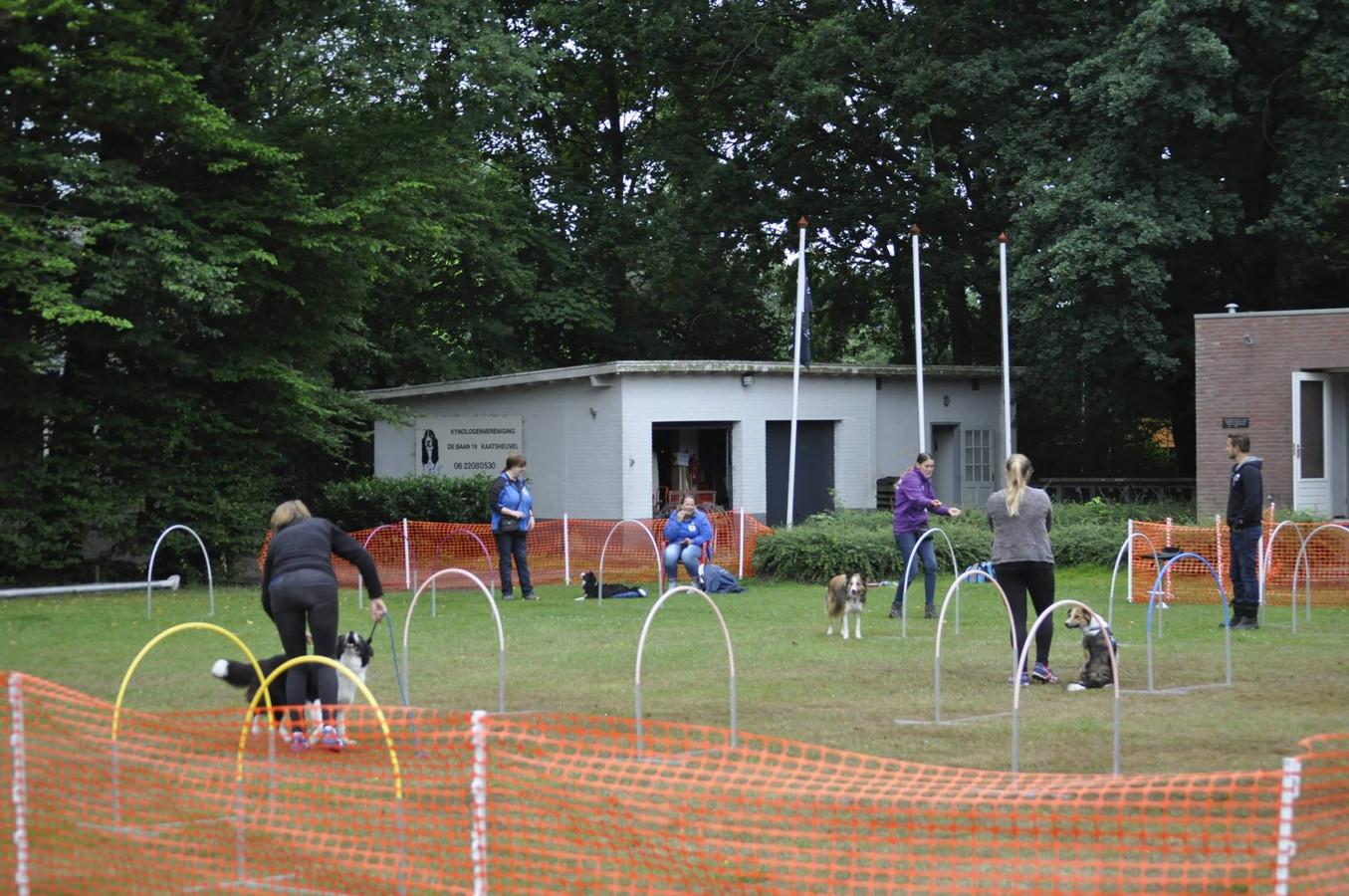 Het clubterrein van Kynologenvereniging Waalwijk e.o. aan de Baan in Kaatsheuvel.