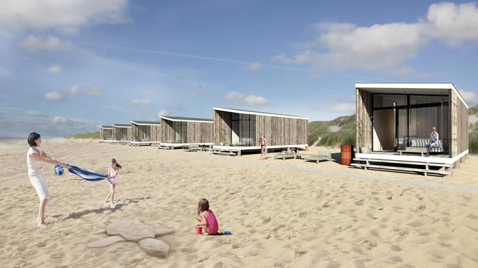 strandhuisje op kijkduin