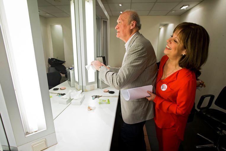Jacques Vermeire en Gerty Christoffels na de opnames voor een speciale aflevering van 'De Drie Wijzen' in 2017. Beeld Photo News