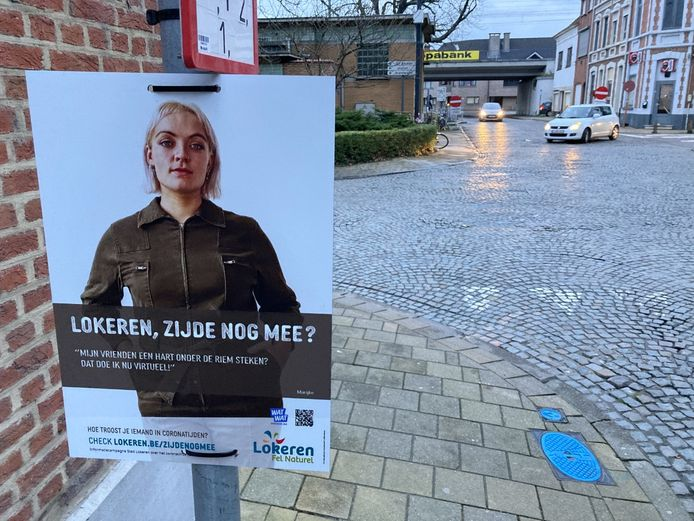 De nieuwe campagne duikt op verschillende plaatsen op in het Lokerse straatbeeld.