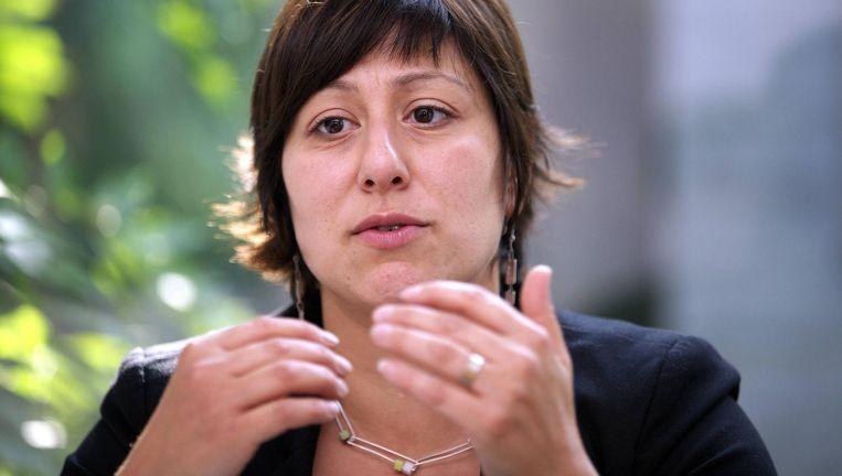 Almaci (Groen, l.) en Demir (N-VA, m.) durven wel streng te zijn voor Erdogan, Kir (PS) vindt zijn mening over de president 'niet relevant' en zwijgt. Beeld RV