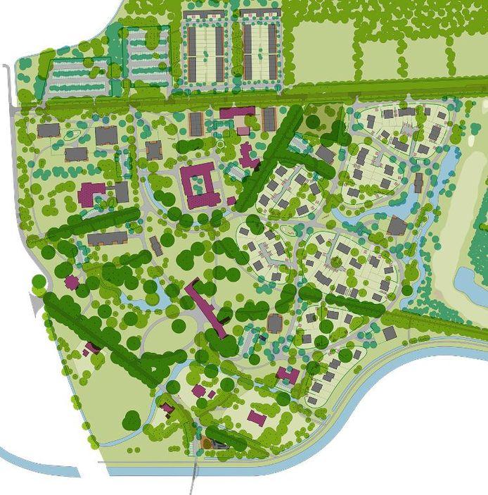 De geplande ontwikkeling van het landgoed