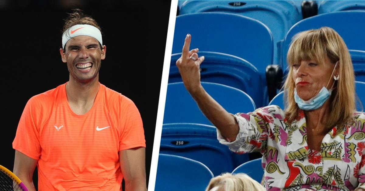 """Une spectatrice adresse un doigt d'honneur à Nadal: """"Je ne la connais pas et je n'ai pas envie de la connaître"""" - 7sur7"""