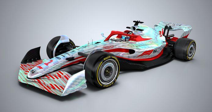 De nieuwe Formule 1-bolide.