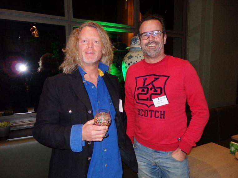 Sanne Salomons (Schoonzoon) en Guido Kroos (Milani ruimte-inrichters): 'What's in it for me, dat denkt iedereen. Waar heb ik, waar heeft de wereld iets aan' Beeld Schuim