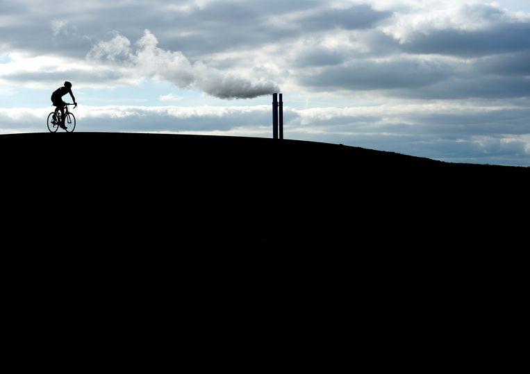 Drente heeft zijn berg, de Col du VAM, bij Wijster.  Beeld Klaas Jan van der Weij