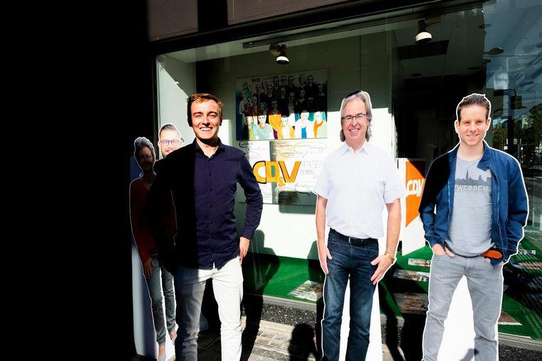 Het campagnelokaal van CD&V op de Bredabaan.