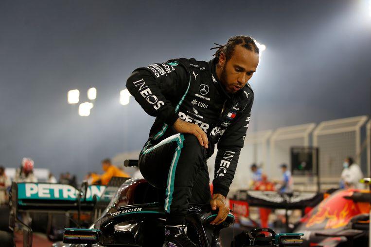 Lewis Hamilton is besmet met Covid-19. Beeld AP