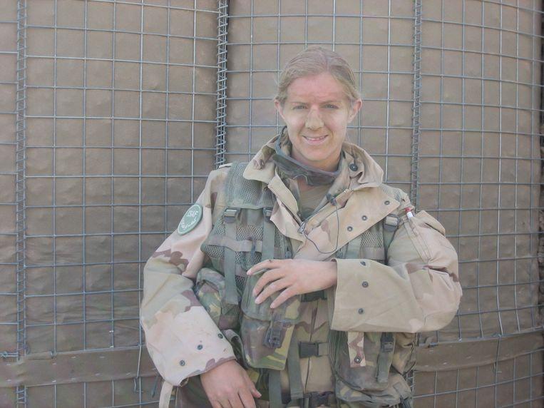 Maartje van Spijker, veteraan die dienst deed in Afghanistan. Beeld