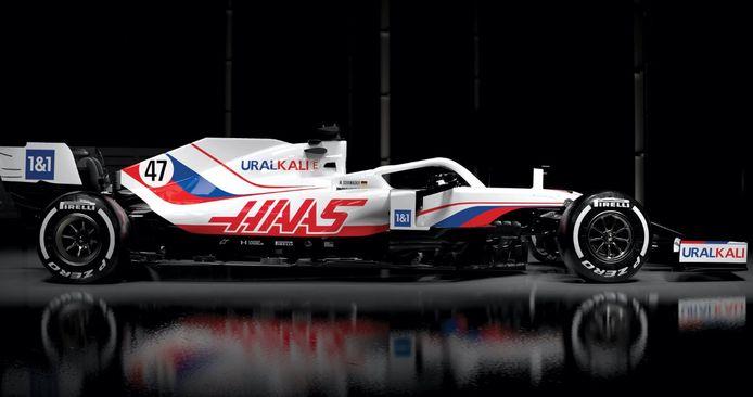 La monoplace de l'écurie Haas pour la nouvelle saison