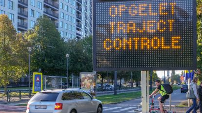 Eerste trajectcontrole in Brussel is een feit
