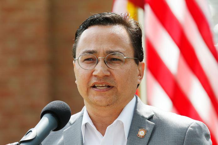 Het hoofd van de Cherokee-stam, Chuck Hoskin Jr.