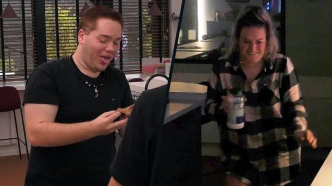 """Jill zet nachtelijke kattenkwaad-traditie van Thomas verder in 'Big Brother': """"Dit brood is niet te eten"""""""