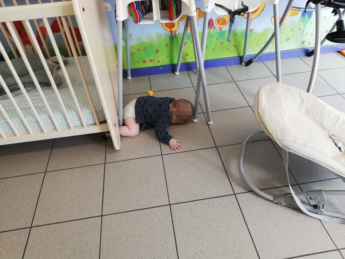 Deze foto kreeg Alexandra Van Rossum toegestuurd door de mensen van de crèche in Sint-Genesius-Rode.