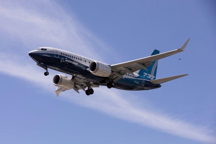 Archiefbeeld: een Boeing 737 MAX tijdens een testvlucht