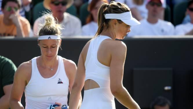 """Sharapova niet opgezet met actie van opponente na opgave: """"Kan me niet schelen wat mensen zeggen"""""""