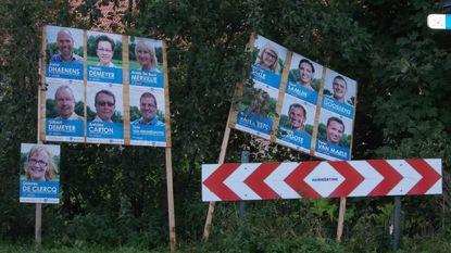 Dan toch verkiezingsborden langs weg