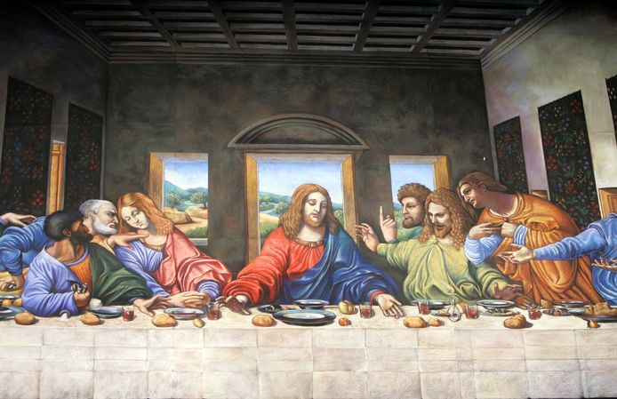 Léonard De Vinci a bouclé son chef-d'œuvre en février 1487. On peut découvrir La Cène au réfectoire du couvent dominicain de Santa Maria delle Grazie à Milan.