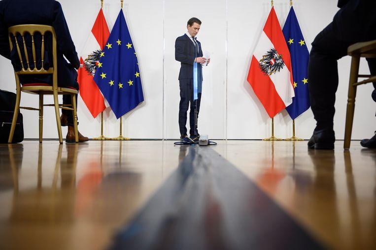 De Oostenrijkse bondskanselier Kurz. Beeld EPA