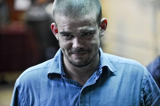 Van der Sloot tijdens zijn proces in 2012 in de Peruaanse hoofdstad Lima.