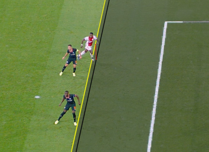 De goal van Ajacied Quincy Promes tegen Chelsea werd afgekeurd door de VAR.