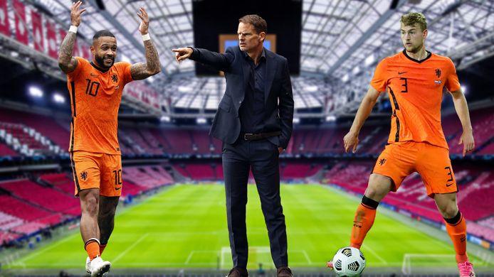 Frank de Boer rekent op het EK in grote mate op Memphis Depay en Matthijs de Ligt.