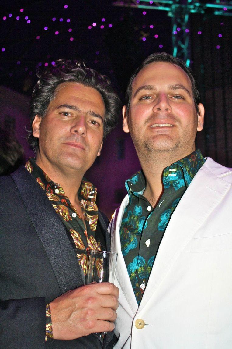 Gijs Stork (l) en Angelo Tromp (Salon/): 'Wat een fantastische locatie.' <br /><br /> Beeld