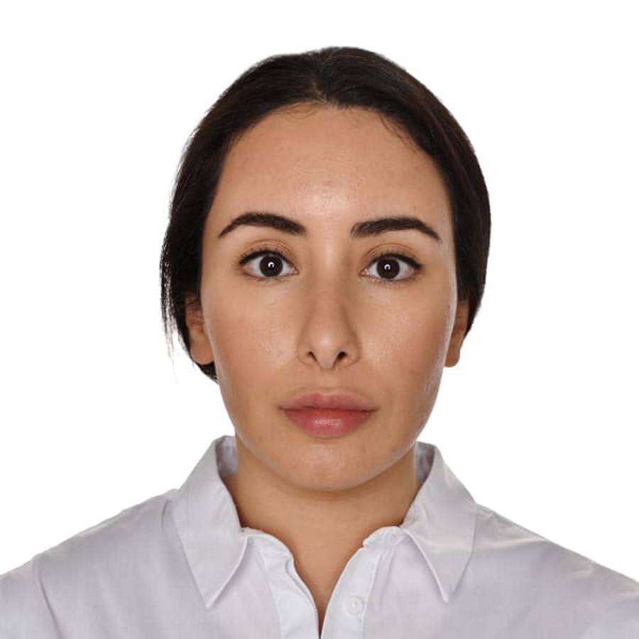 Een ongedateerde foto van prinses Latifa, die op 19 februari door Dubai werd vrijgegeven.
