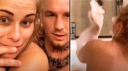 MMA-vechtster beantwoordt vragen van haar fans... terwijl ze samen met haar man naakt in bad zit