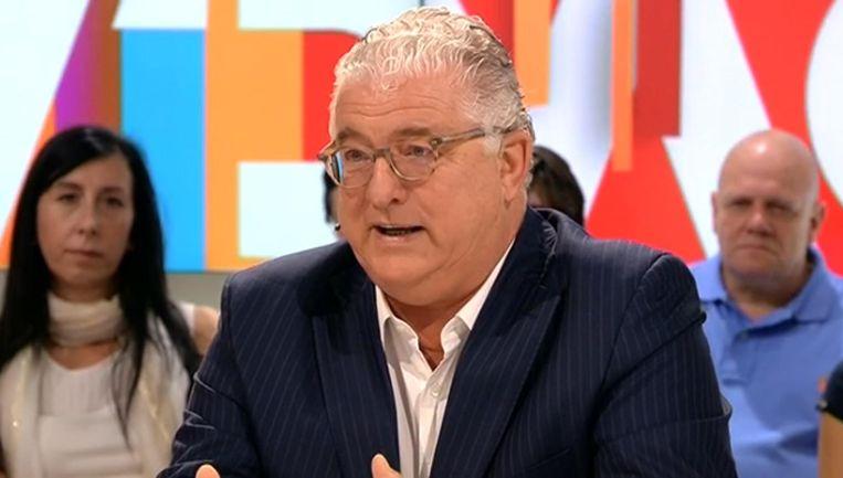 Jeroen Piqueur, voormalig topman van Optima Bank, in De Zevende Dag. Beeld VRT