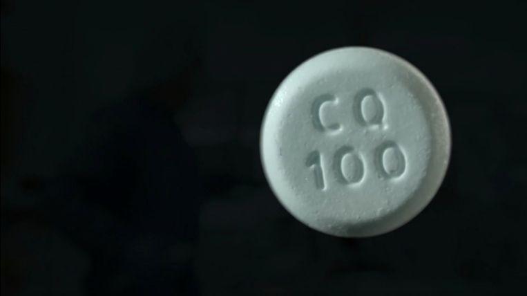 Een tabletje chloroquine. Beeld Medialogica