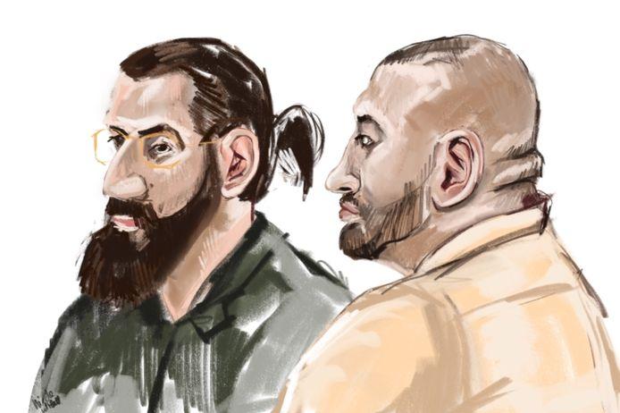 Abas M. (links) en Idris M. stonden drie dagen terecht vanwege hun vermeende rol in de Zwolse drugsoorlog. Pas op 4 juni wijst de rechtbank vonnis.