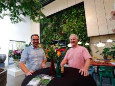 De Klerk bloemsierkunst is van Eindhoven naar Veldhoven verhuisd voor een groene muur