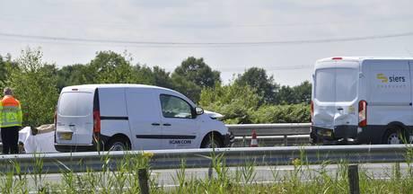 File op A58 richting Tilburg lost op na kettingbotsing bij Moergestel