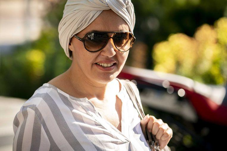 2020-06-25 08:05:35 Saadia Ait-Taleb  bij de rechtbank in Amsterdam.  Beeld ANP