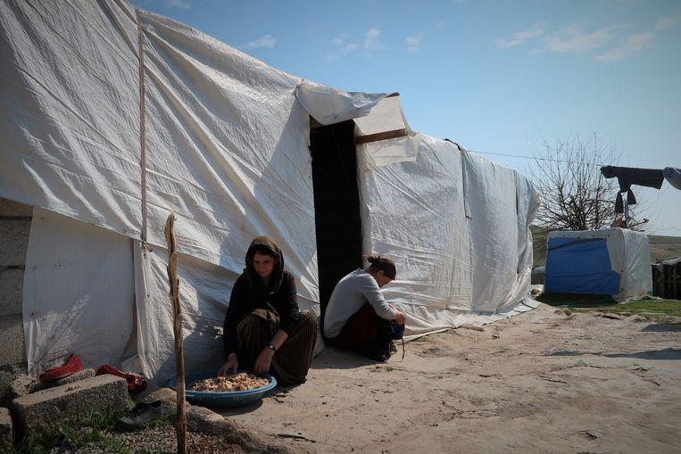 In Iraaks Koerdistan wonen nog 260.000 jezidi-gezinnen in vluchtelingenkampen. Beeld Brenda Stoter Boscolo